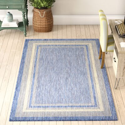 Durocher Blue Outdoor Area Rug Rug Size: Rectangle 6 x 9