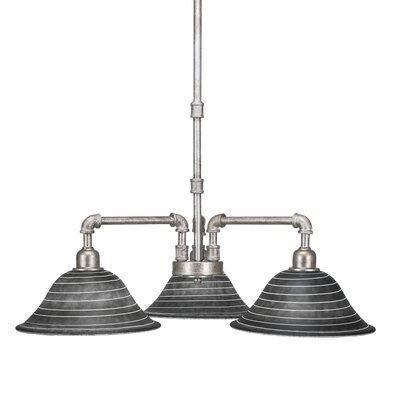Kash 3-Light Charcoal Shaded Chandelier Size: 19 H x 22.25 W x 22.25 D