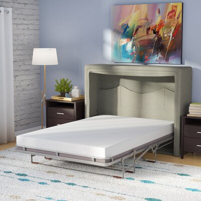 Sue Full/Double Upholstered Murphy Bed with Mattress Color: Polar Gray