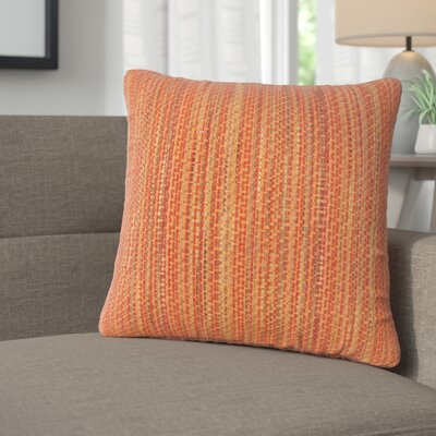 Avah Stripes Throw Pillow Color: Tamale