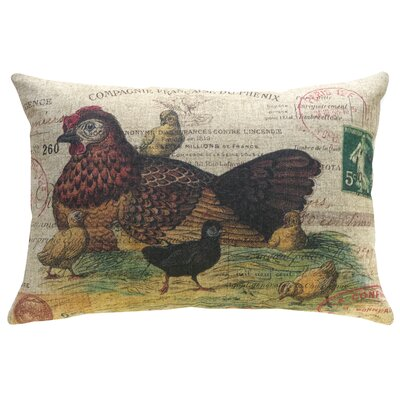 Fernald Chicken Nest Linen Throw Pillow