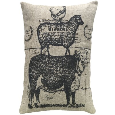 Mcanulty Farmhouse Animals Linen Throw Pillow