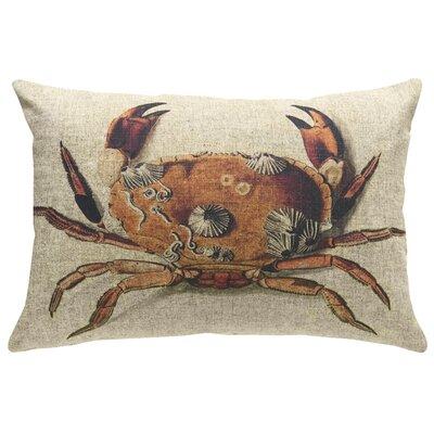 Chagoya Crab Linen Throw Pillow