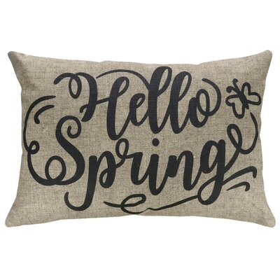 Fergus Hello Spring Linen Throw Pillow
