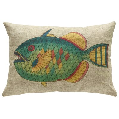 Pennebaker Fish Linen Throw Pillow