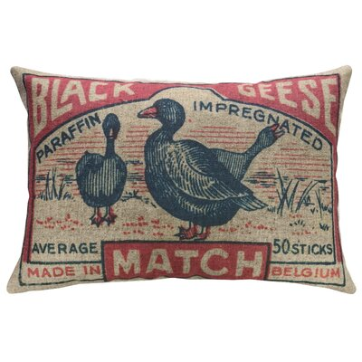 Eppinger Geese Linen Throw Pillow