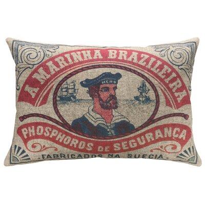 Daleville Nautical Sailor Linen Throw Pillow