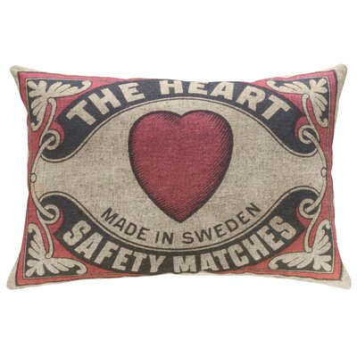 Crabill The Heart Linen Throw Pillow