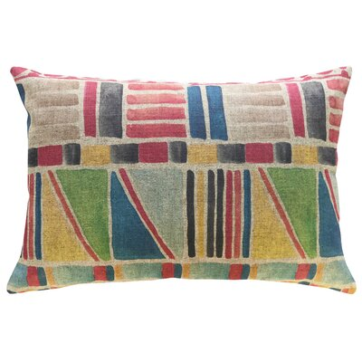 Chavez Colorful Geometric Linen Throw Pillow