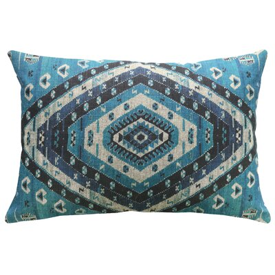 Lummus Diamond Geometric Linen Throw Pillow