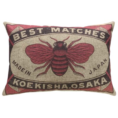 Hoehne Bee Safety Matches Linen Throw Pillow