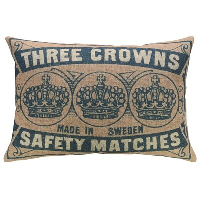 Mcauley Crowns Linen Throw Pillow
