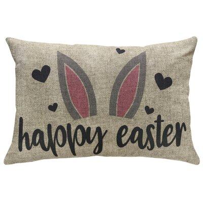 Fentress Easter Bunny Linen Throw Pillow