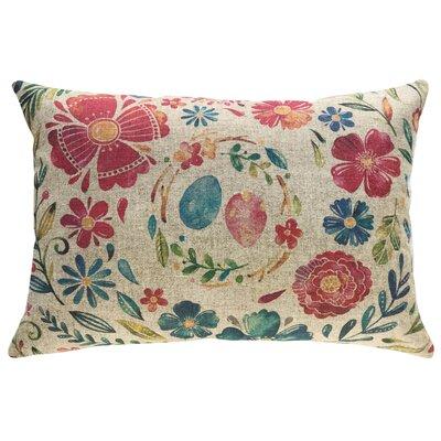 Finkelstein Watercolor Eggs Linen Throw Pillow