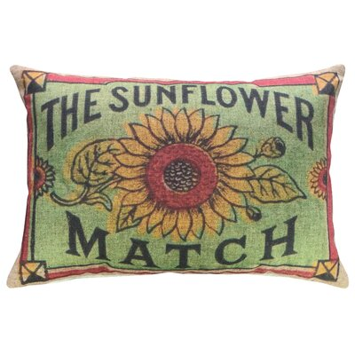 Finke Sunflower Linen Throw Pillow