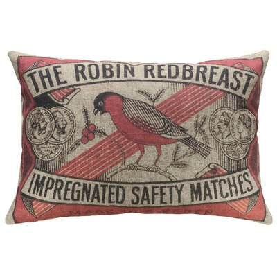 Crofoot Robin Linen Throw Pillow
