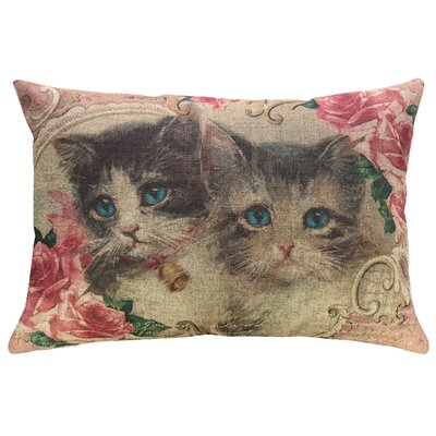 Willer Cat Lady Linen Throw Pillow