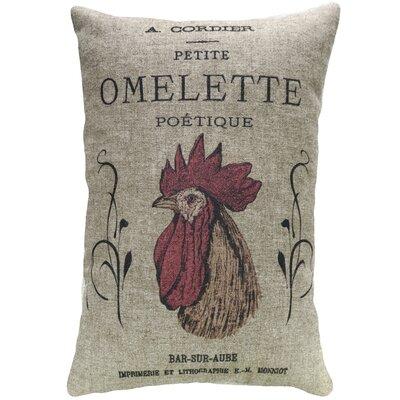 Fernald Chicken Linen Throw Pillow