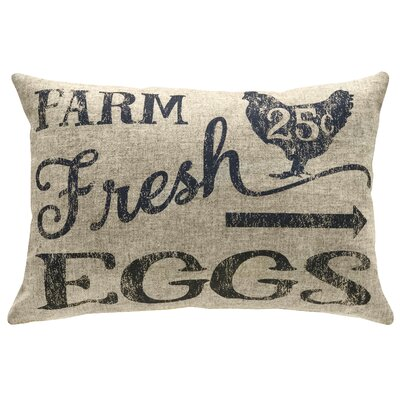 Mcanulty Farm Fresh Eggs Linen Throw Pillow