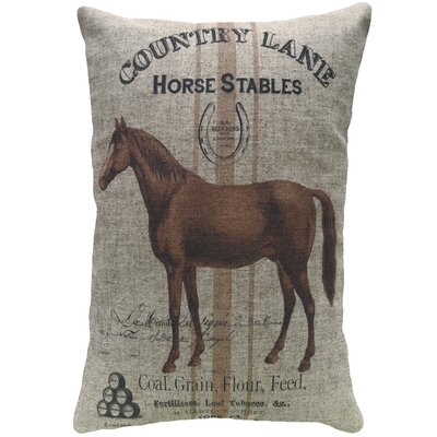 Mayers Horse Stables Linen Throw Pillow