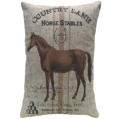 Mayers Horse Stables Linen Throw Pillow 88DB7955ABB64F4CB53FB957E0D3DBC7