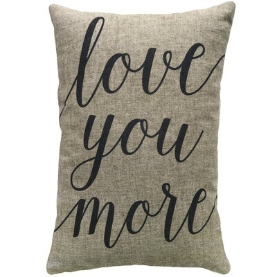 Mcatee Love You More Linen Throw Pillow