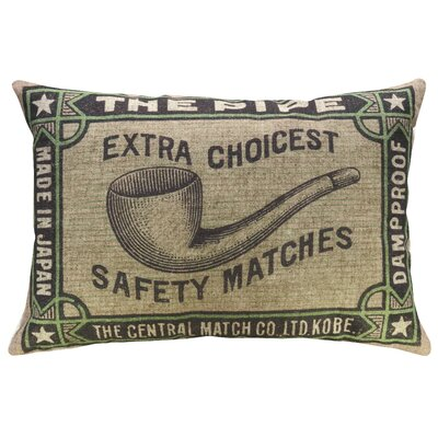 Crocker The Pipe Linen Throw Pillow