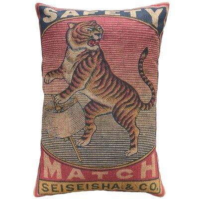 Hoekstra Tiger Linen Throw Pillow