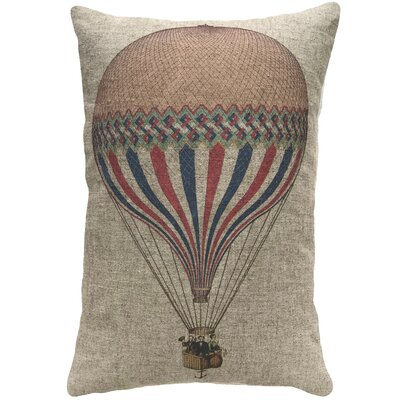 Cracraft Hot Air Balloon Linen Throw Pillow