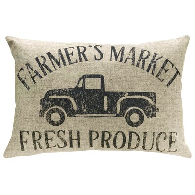Mcanulty Farmers Market Linen Throw Pillow