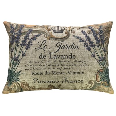 Krout Lavender Linen Throw Pillow