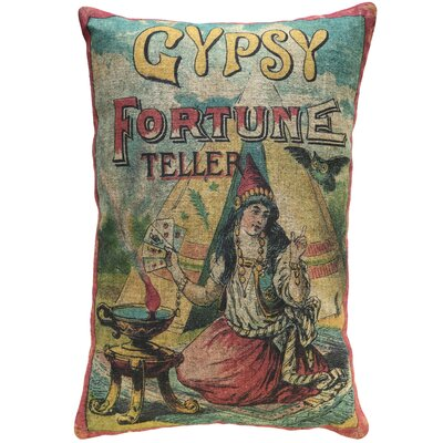 Hodnett Gypsy Fortune Teller Linen Throw Pillow