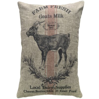 Mcarthur Goat Farm Linen Throw Pillow