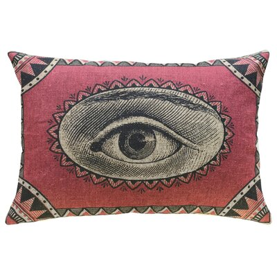 Hodgin Eye Linen Throw Pillow