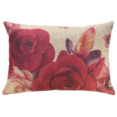 Krupp Roses Linen Throw Pillow