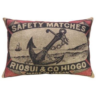 Dall Anchor Linen Throw Pillow