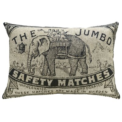 Hoeft Jumbo Elephant Linen Throw Pillow