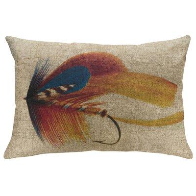 Penman Fly Fishing Linen Throw Pillow