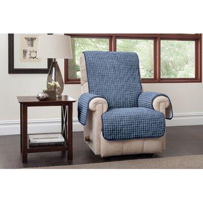 Box Cushion Recliner Slipcover Upholstery: Blue