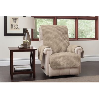 Box Cushion Recliner Slipcover Upholstery: Natural