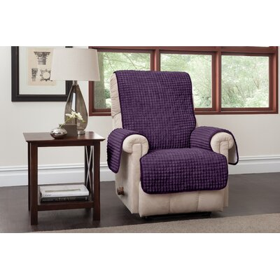 Box Cushion Recliner Slipcover Upholstery: Purple