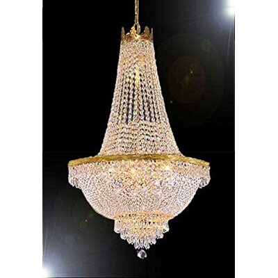 Hobson 9-Light Empire Chandelier Finish: Gold