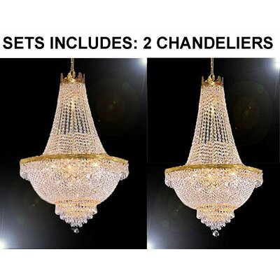 Horowitz 9-Light Empire Chandelier Finish: Gold