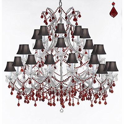 Quade 37-Light Candle-Style Chandelier Shade Color: Black