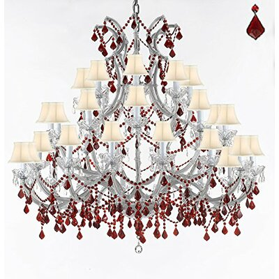 Quade 37-Light Candle-Style Chandelier Shade Color: White