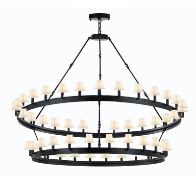 Kyser Vintage 54-Light Candle-Style Chandelier Shade Color: White