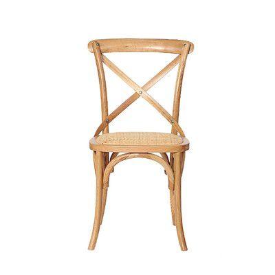Weldy Solid Wood Dining Chair Color (Upholstery): Natural