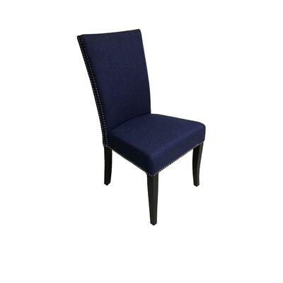 Mcgann Upholstered Dining Chair Upholstery Color: Blue