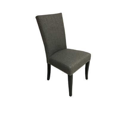 Mcgann Upholstered Dining Chair Upholstery Color: Gray