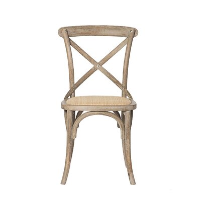 Weldy Solid Wood Dining Chair Color (Upholstery): Antique Gray